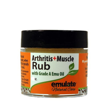 Emu Oil Arthritis & Muscle Rub with MSM emulate Natural Care 2 oz Cream