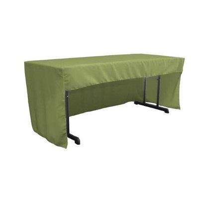 LA Linen TCpop-OB-fit-96x30x30-SageDrkP39 2.26 lbs Open Back Polyester Poplin Fitted Tablecloth Dark Sage