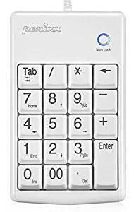 Perixx Keypad Peripad 201 PLUS, USB, weiB