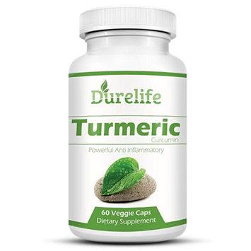 Durelife TURMERIC CURCUMIN Supplement 60 Vegi Caps of 650 mg Per Capsule with Bioperine For a Superior Absorption Standardized to 95% Curcuminoids
