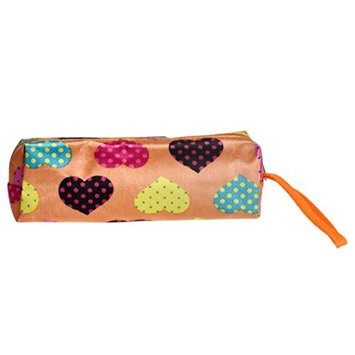 TRENDINAO New Women Love Heart Square Multicolor Cosmetic Pencil Pen Makeup Lipstick Bag Handbag