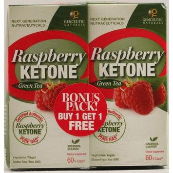 Genceutic Naturals, Raspberry Ketone + Green Tea Bogo Pack 60 Capsules