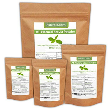 All Natural Stevia Powder 10 Grams (67 Servings) | Highly Concentrated Pure Extract | No Fillers, Additives or Artificial Ingredients | Zero-Calorie Sweetener | Best Sugar Substitute