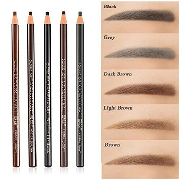 5pcs 5 Colors Peel-Off Eye Brow Pencil Set For Marking Filling Outlining, Tattoo Makeup Microblading Supplies Kit - Permanent Eye Brow Liners Positioning Pencil Eyeliner Pen Eyebrow Cosmetics Tool