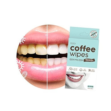 Coffee Wipes, 5 Pack - Teeth Whitening Wipes, 100% Cotton