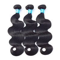HiMei Hair 7A Brazilian Body Wave 3 Bundles Natural Black Brazilian Hair Bundles Virgin Human Hair Bundles Human Hair Weave (14 16 18inch)