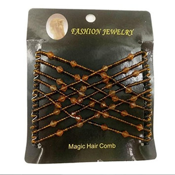 Ulike2 Easy Comb Ez Magic Comb Stretchy Beaded Hair Comb in Black Beads with Pearl