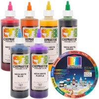 6 Color Chefmaster Liqua-Gel Cake Coloring Set, 10.5 oz. NEON Kit by US Cake