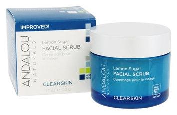 Andalou Naturals - Clear Skin Facial Scrub Lemon Sugar - 1.7 oz.(pack of 3)