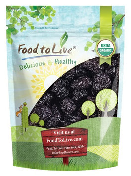 Organic Pitted Prunes - Dried California Plums, Non-GMO, Unsulfured, Unsweetened, Bulk (by Food to Live) (8 Ounces)