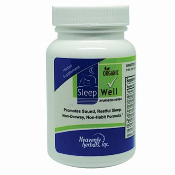 Heavenly Herbals, Inc. SleepWell Capsules by Heavenly Herbals, 60-Count 100% Herbal Remedy Sleeping Capsules, Safe & Effective Natural Insomnia Relief Supplement Non-Habit Forming Blend Allows restful Deep Sleep.