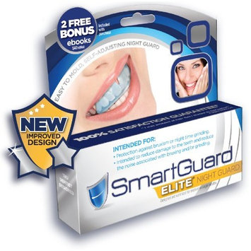 SmartGuard Elite IMPROVED Night Guard For Teeth Grinding Bruxism Mouthguard for Dental Bite Splint Appliance. TMJ DDS Designed For Relief of Symptoms of Clenching may include Jaw Pain.100% Guarantee