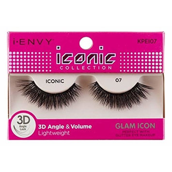 Kiss I Envy Iconic Collection Lashes #07 3D Angle & Volume (Glam) (3 Pack)