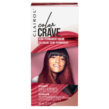 Clairol Color Crave Semi-Permanent Hair Color, Scarlet, 2 fl oz