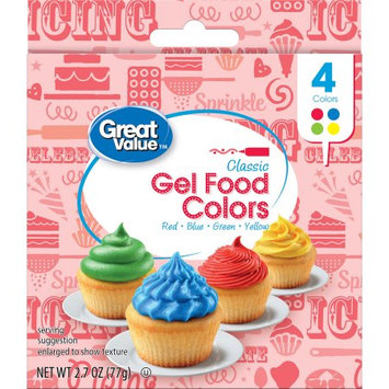 Signature Brands Great Value Gel Food Color - 4 pack of Classics Colors