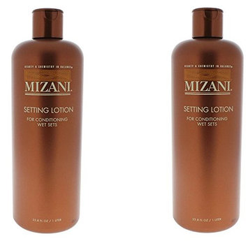 [ PACK OF 2 VALUE ] Mizani SETTING LOTION FOR CONDITIONING WET 33.8 OZ EA : Beauty