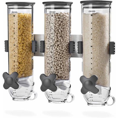 Honey Can Do Zevro by Honey-Can-Do SmartSpace Edition Wall Mount 13 oz. Dispenser, Triple Canisters