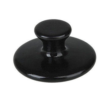 Mushroom Shaped Massager Stones Natural Basalt Hot Rock for Spa, Massage Therapy by iShapify LLC