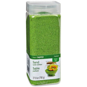 Floracraft Decorative Sand With Glitter 790G-Green Grass