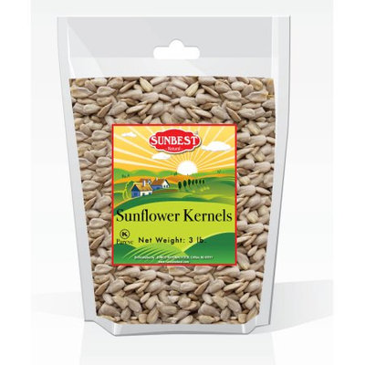 Sunbest Raw Sunflower Seed Kernels 3 Lb, Unsalted, Unroasted in Resealable Bag (48 Oz)