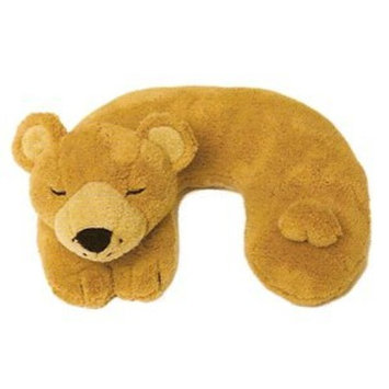Ton Ton for Kids Travel Buddies Neck Pillow - Brown Bear