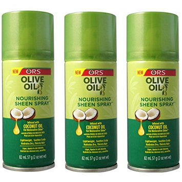 PACKAGE PACK OF 3] ORS OLIVE OIL NOURISHING SHEEN SPRAY 2 OUNCE COCONUT : Beauty