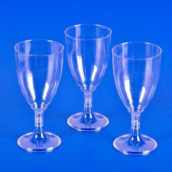 DOMAGRON Plastic Clear Wine Glass (25 Pieces Per Case)