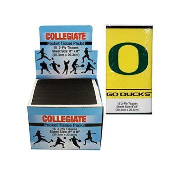 Kole Imports PB657 Oregon Ducks Pocket Tissues Countertop Display