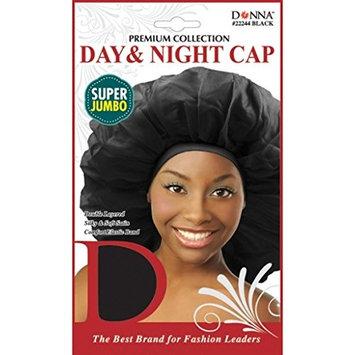 (PACK OF 6) Donna - Day & Night Cap (Super Jumbo) #BLACK #2224: Beauty
