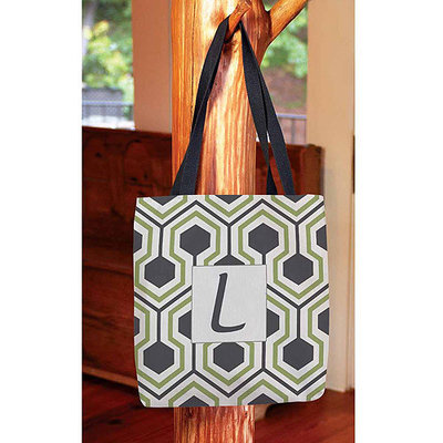 Thumbprintz - Honeycomb Monogram Tote Bag