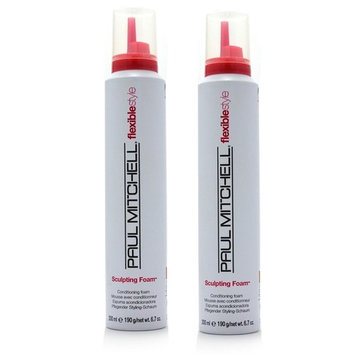 Paul Mitchell Flexible Style Sculpting Foam 6.7 Ounce (Pack of 2) - Conditioning Foam - Color Safe . Paraben Free - Vegan - Touchable Hold - Great for curls : Beauty