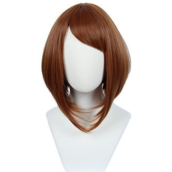 Linfairy Women's Brown Cosplay Wig Halloween Costume Party Wig