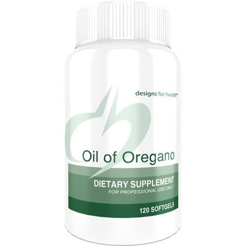 Designs for Health - Oil of Oregano - 60mg High Carvacrol, 120 Softgels [Standard Packaging]