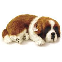Perfect Petzzz Huggable Breathing Sleeping Plush Puppy Dog Pet St Bernard