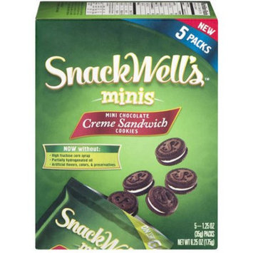 Snackwell's Back To Nature, SnackWells, To Go, Mini Sandwich Cookies, 5 Ct, 6.25 oz Box, Chocolate (Pack of 3)