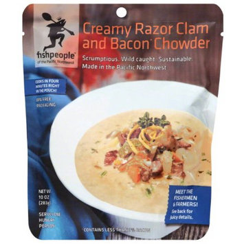 Fishpeople Creamy Razor Clam and Bacon Chowder, 10 oz, (Pack of 12)