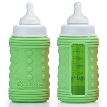 Coddlelife Silicone Bottle Wrap with Ultra Cushioning, Green