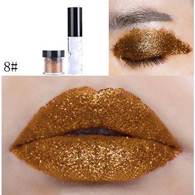 Hot Sale Shimmer Glitter Lip Gloss Powder Palette Glitter Lipstick Cosmetic Eye Shadow
