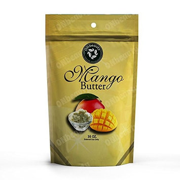 Mango Butter (16 Ounce) - Pure, Natural, Perfect For DIY Skin/Hair Care, Unscented