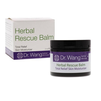 Dr. Wang Herbal Rescue Balm, 2oz- Herbal & NON-steroidal Care for Itchy, Dry & Irritated Skin- Suitable for Adults and Kids, Including Those with Eczema- Developed by Dermatologist & Herbalist