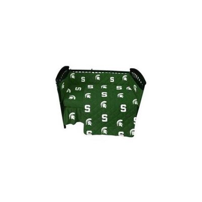 College Covers MSUCSFSW Michigan State Baby Crib Fitted Sheet White