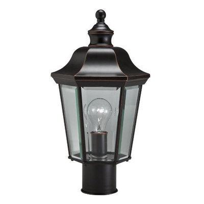 Portfolio 17-in H Olde Copper Post Light 39340