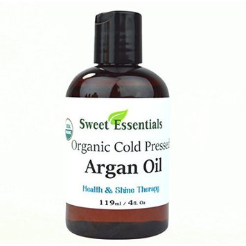 100% Pure Organic Moroccan Argan Oil -4oz- Imported from Morocco - From Raw Unraosted Nuts - Miracle Oil For Every Skin Condition, Hair, Nails, Anti-aging & More! By Sweet Essentials