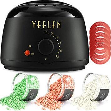 Yeelen Wax Warmer Hair Removal Waxing Kit Wax Melts 3 Hard Wax Beans(21.16oz) 10 Wax Applicator Sticks All Body, Fac Applicator Sticks All Body, Face, Bikini Area, Legs at Home Waxing