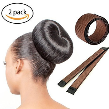 Zinnor Hair Bun Maker Long Sticks Ball Head Hair Magic Bun Shapers Donut Hair Styling Making DIY Curler Roller Hairstyle Disk Tools, French Twist Doughnuts Hair Accessories For Women Girls 2 Pack