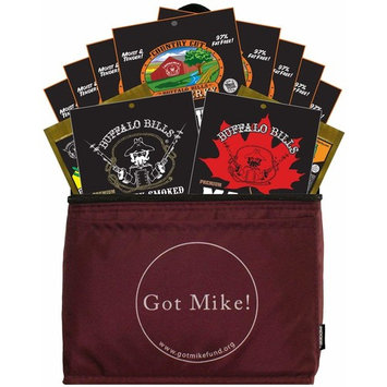 Buffalo Bills 12-Piece Beef Jerky Sampler Got Mike 6-Pack Gift Cooler (12 mixed 1.5oz jerky packs)