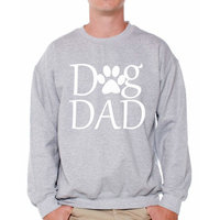 Awkward Styles Men's Dog Dad Graphic Sweatshirt Tops Pet Loving Father`s Day Gift Dog Lover Gift for Him