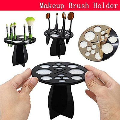 Auntwhale Brushes Organizer Holder Foundation For Daily Useful Make Up Cosmetic Display Stand Drying Rack