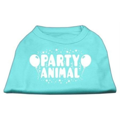Ahi Party Animal Screen Print Shirt Aqua Sm (10)
