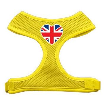 Heart Flag UK Screen Print Soft Mesh Harness Yellow Extra Large